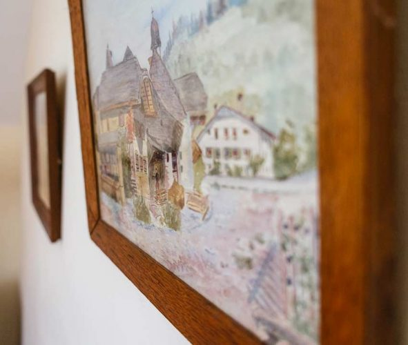 Painting in the Chateau's Lodge