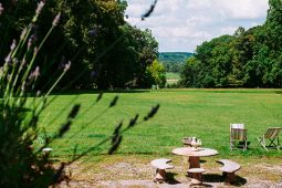 The park of the château